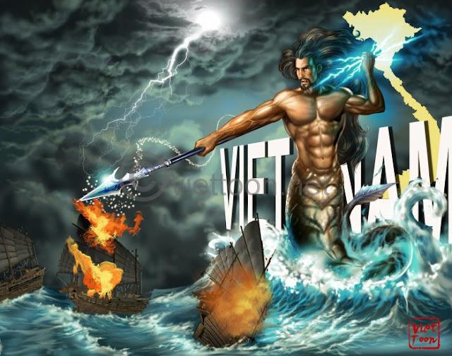 Lac Long Quan Giu Nuoc 02 [Photo] Bộ ảnh lịch sử Việt Nam anh hùng