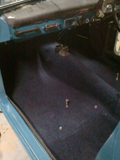 New carpet for the Volvo 122S