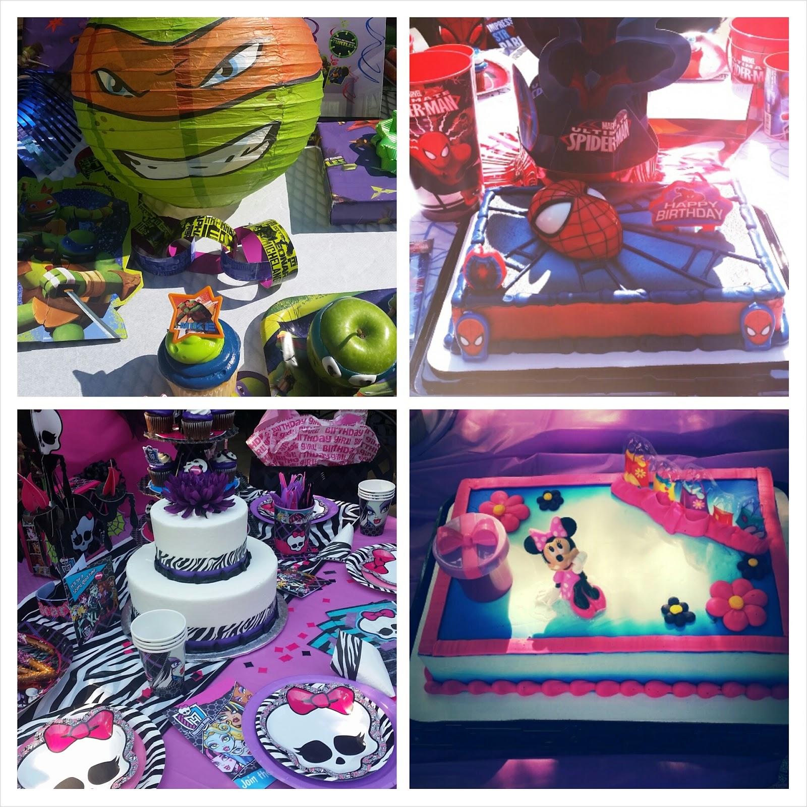 Party Cake Bakery Menu