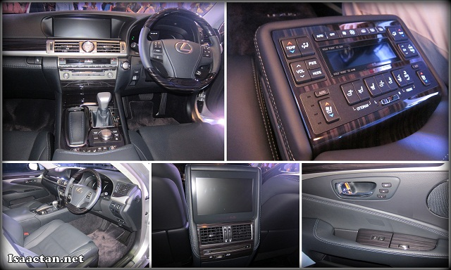 Interior of the Lexus LS 460L