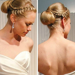 hermoso peinado con trenza