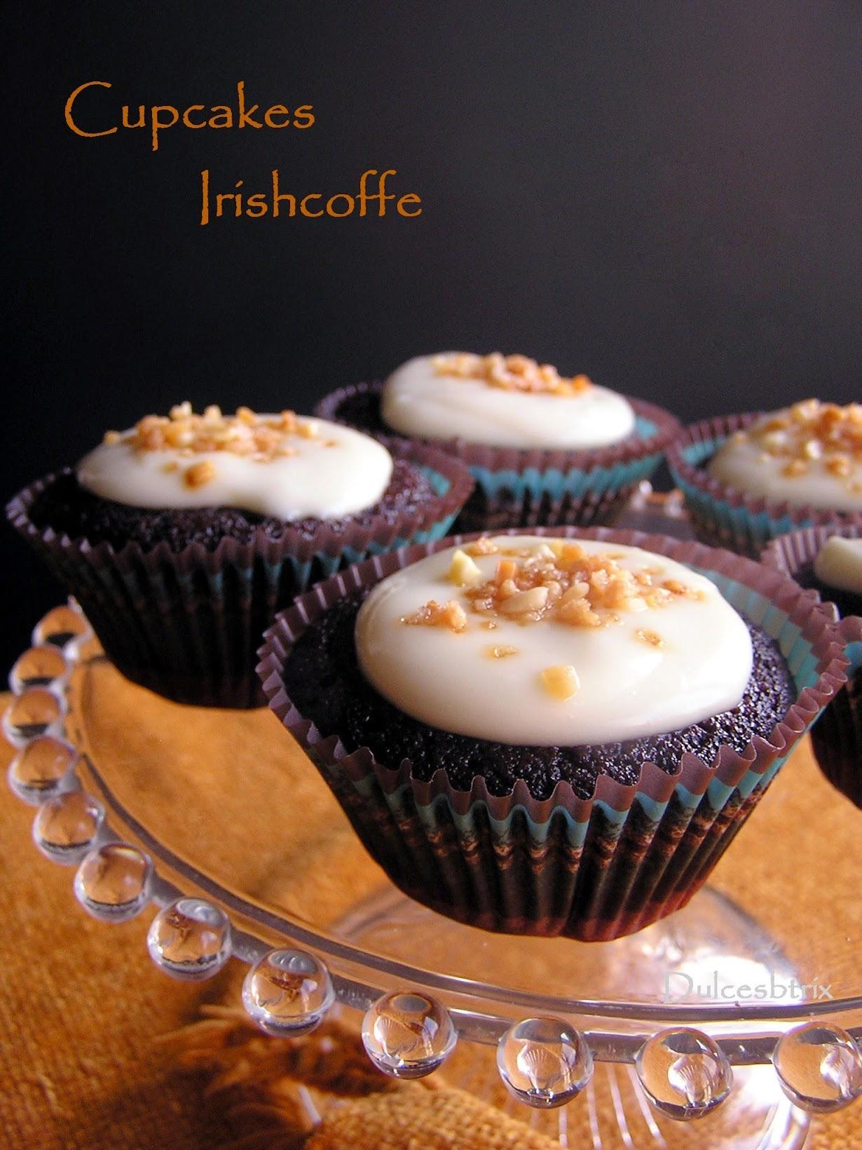Cupcakes de café irlandes