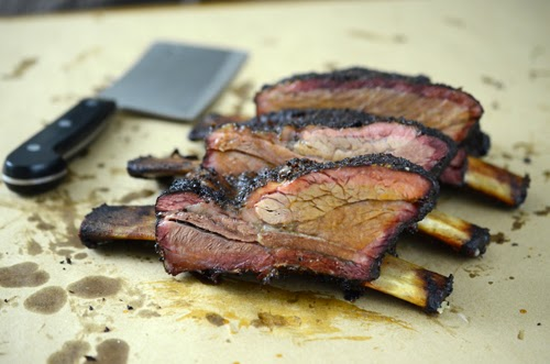 ceramic grill smoked beef ribs