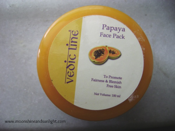 Vedic Line Papaya Face Pack Review