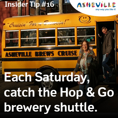 Asheville Insider Tip: Let Brews Cruise do the Driving.