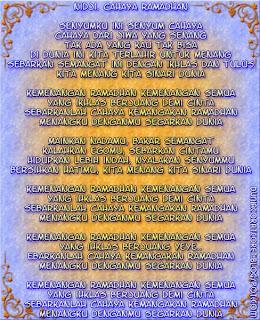 Lyric Lagu Religi 2013/1434 (Bergambar) Nidji-cahaya ramadhan