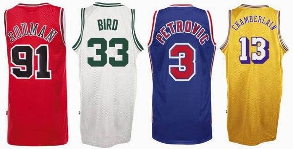 camisetas de leyendas NBA adidas basketball