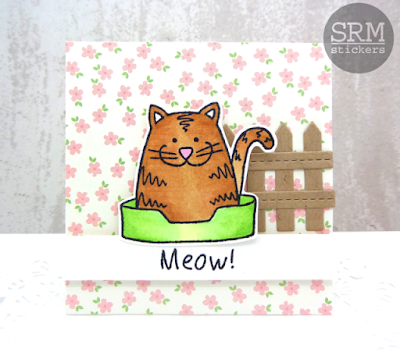 SRM Stickers Blog - PURR-fect Day by Annette - #cards, #cardset #minicards #clearstamps #janesdoodles #acatslife #clearcontainers #giftset