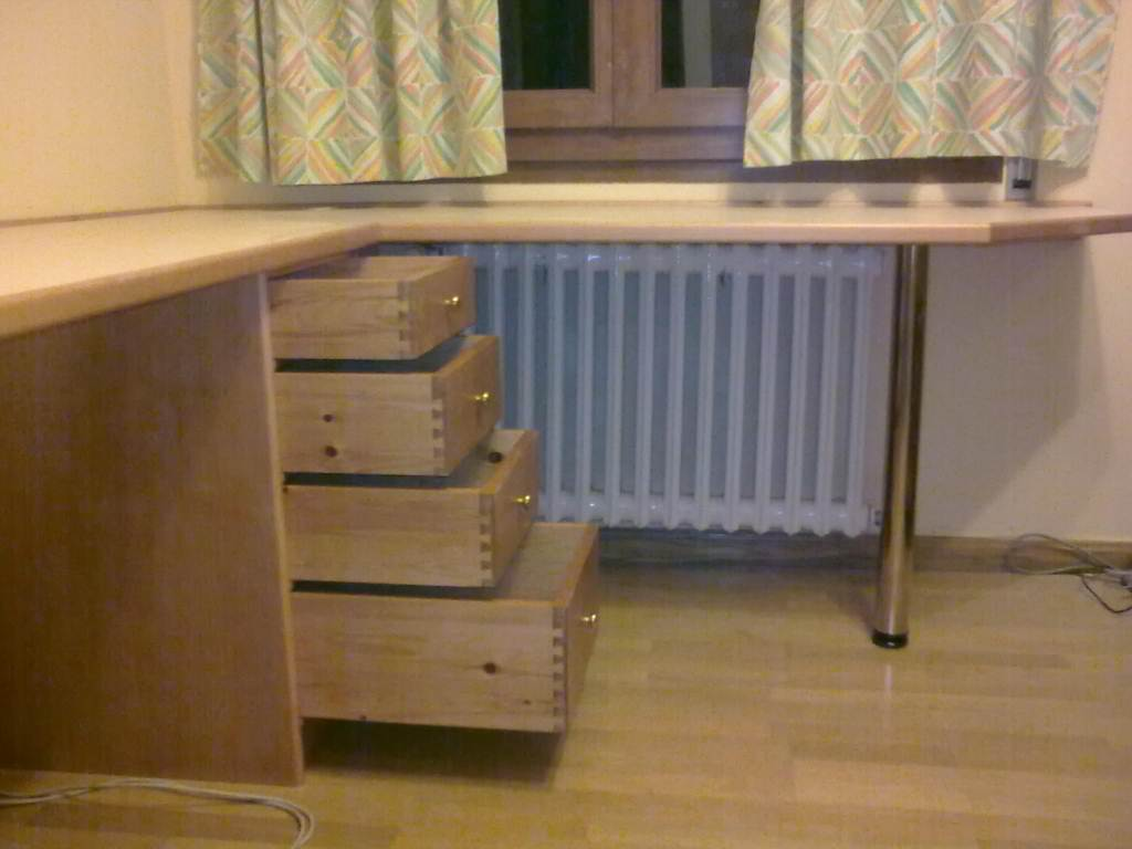 Mesa de estudio de pino  Muebles Cansado (Zaragoza)  Carpintero