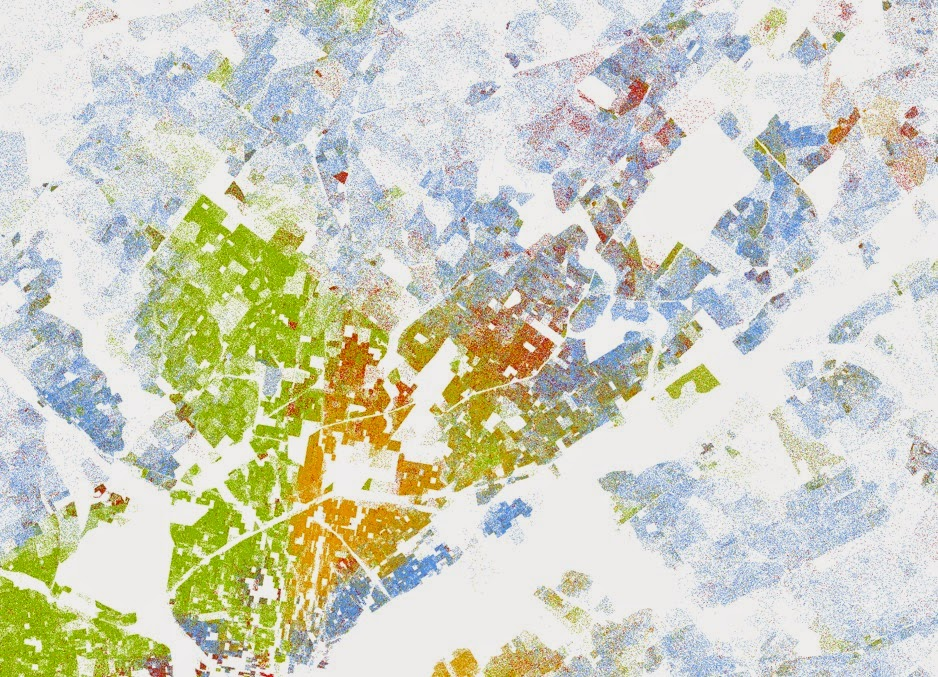Census Race Data In A Dot Density Map Across The Us
