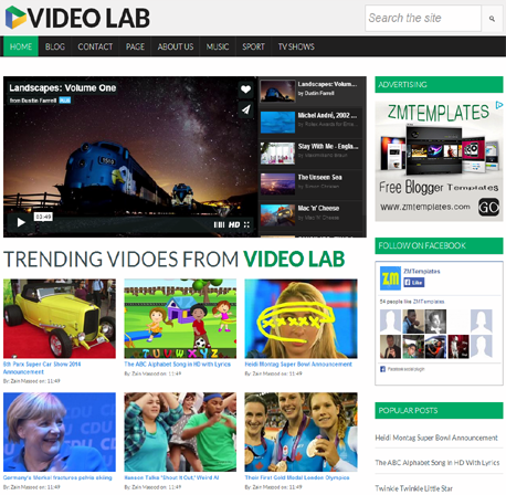 Video Lab Blogger Template