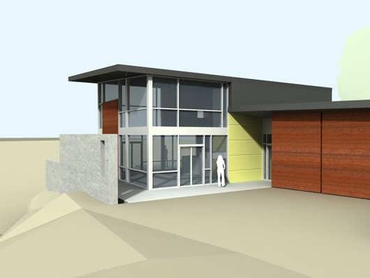 Casa moderna de dos pisos estilo minimalista proyectos for Casas pequenas estilo minimalista