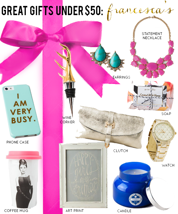 Top 10 Stylish Gifts Under $50: Francesca's