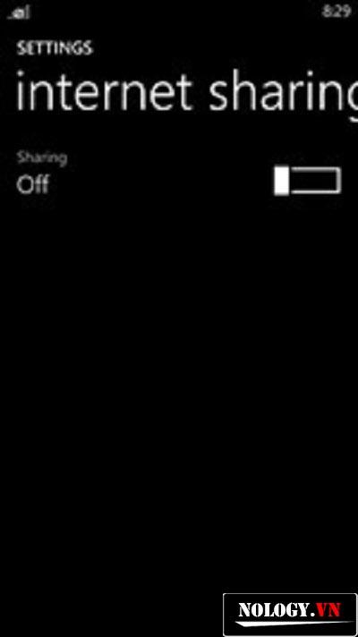 kết nối internet của nokia lumia 520