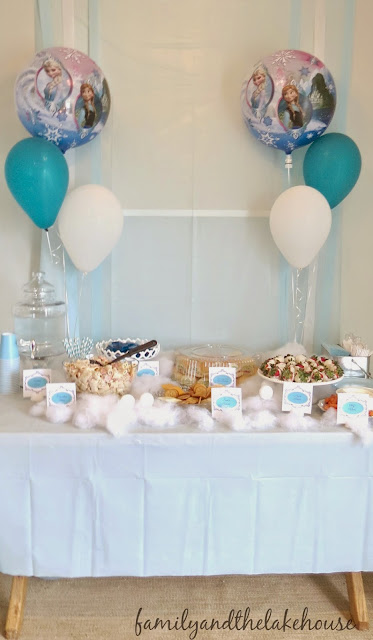 Frozen Themed Birthday Party - Family and the Lake House