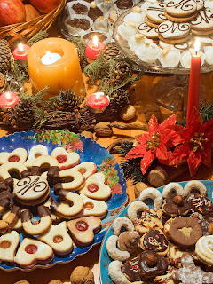 cookie platters at holiday party