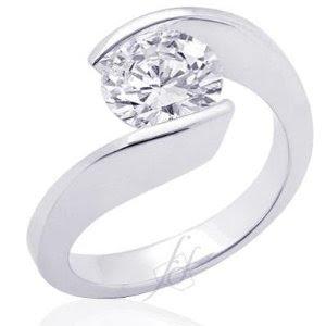 Tension Diamond Ring