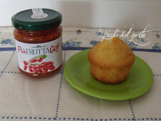 muffin con confettura di bacche goji