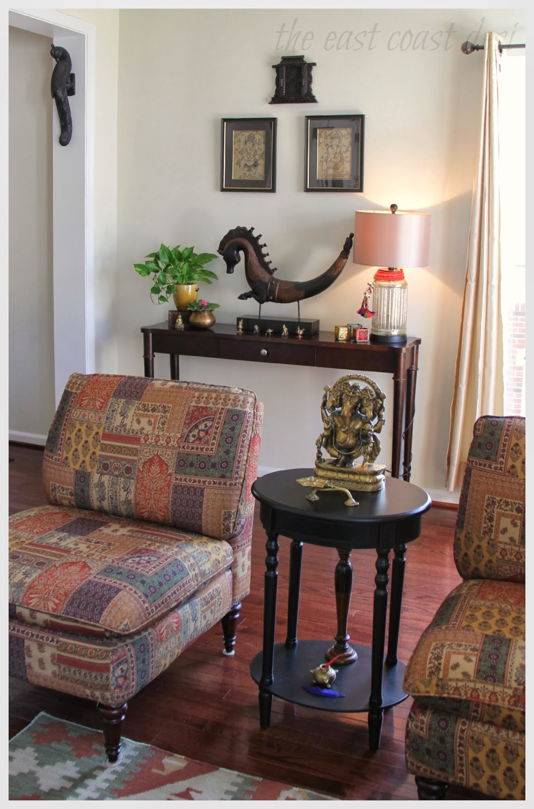 The east coast desi my living room a reflection of india for Living room decorating ideas indian style