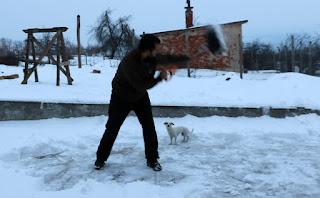 Me mid snow-fling