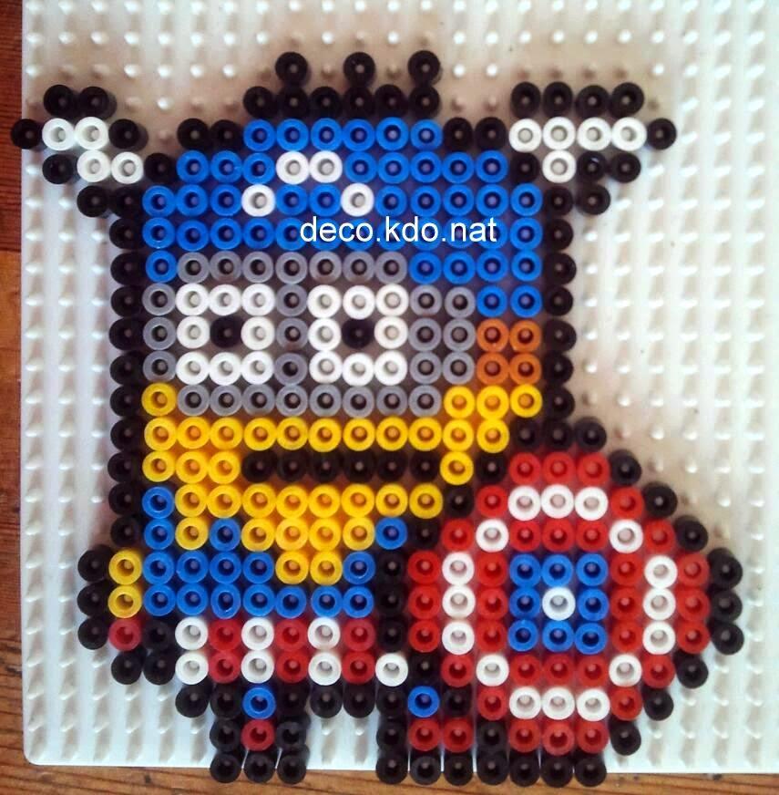 Decokdonat Perles Hama Minion Captain América