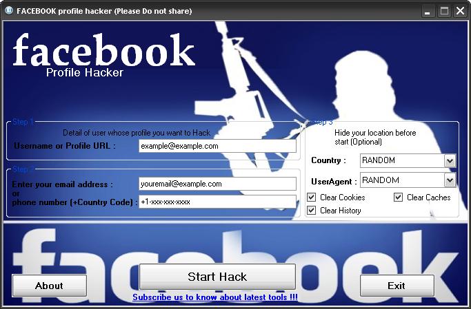 Hack FACEBOOK Profile or Password With Facebook Profile Hacker ~ Hack ...