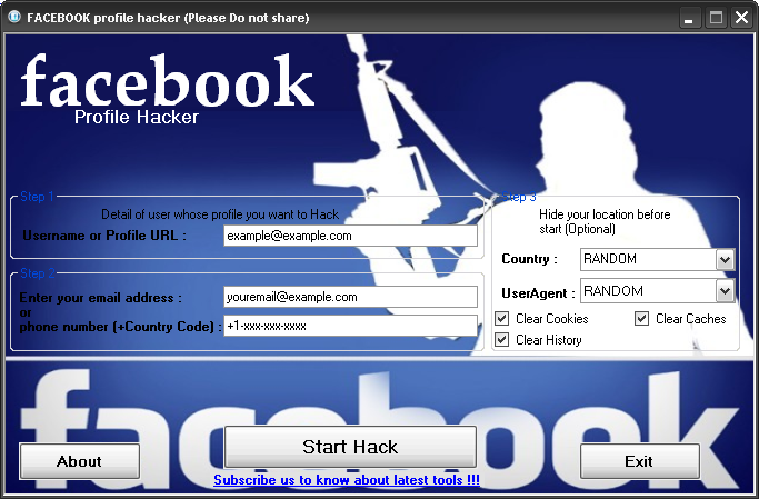 software hack facebook account password free