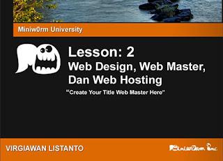 Web Design, Web Master, Dan Web Hosting - Web Introduction