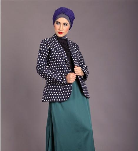 model blazer wanita muslimah 2017/2018