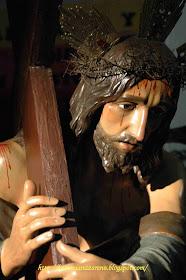 Talla de Nuestro Padre Jesus Nazareno, que nuestra Hermandad tiene en la Parroquia de Herencia.