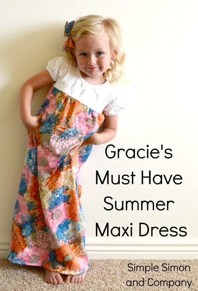 Pattern for a long summer dress