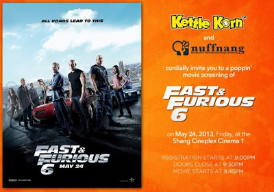Fast and Furious 6 movie invite