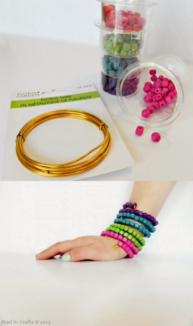 Colorful bracelet DIY