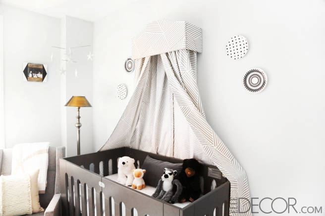 Mini Crib in a Baby Nursery