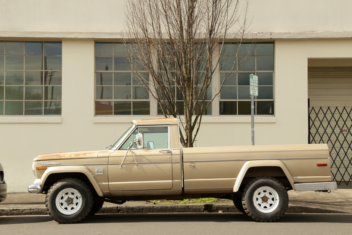 1973 Jeep J4000 Custom Cab pickup.