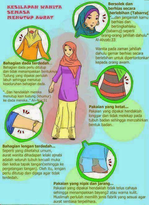 kesilapan lazim muslimah semasa berpakaian
