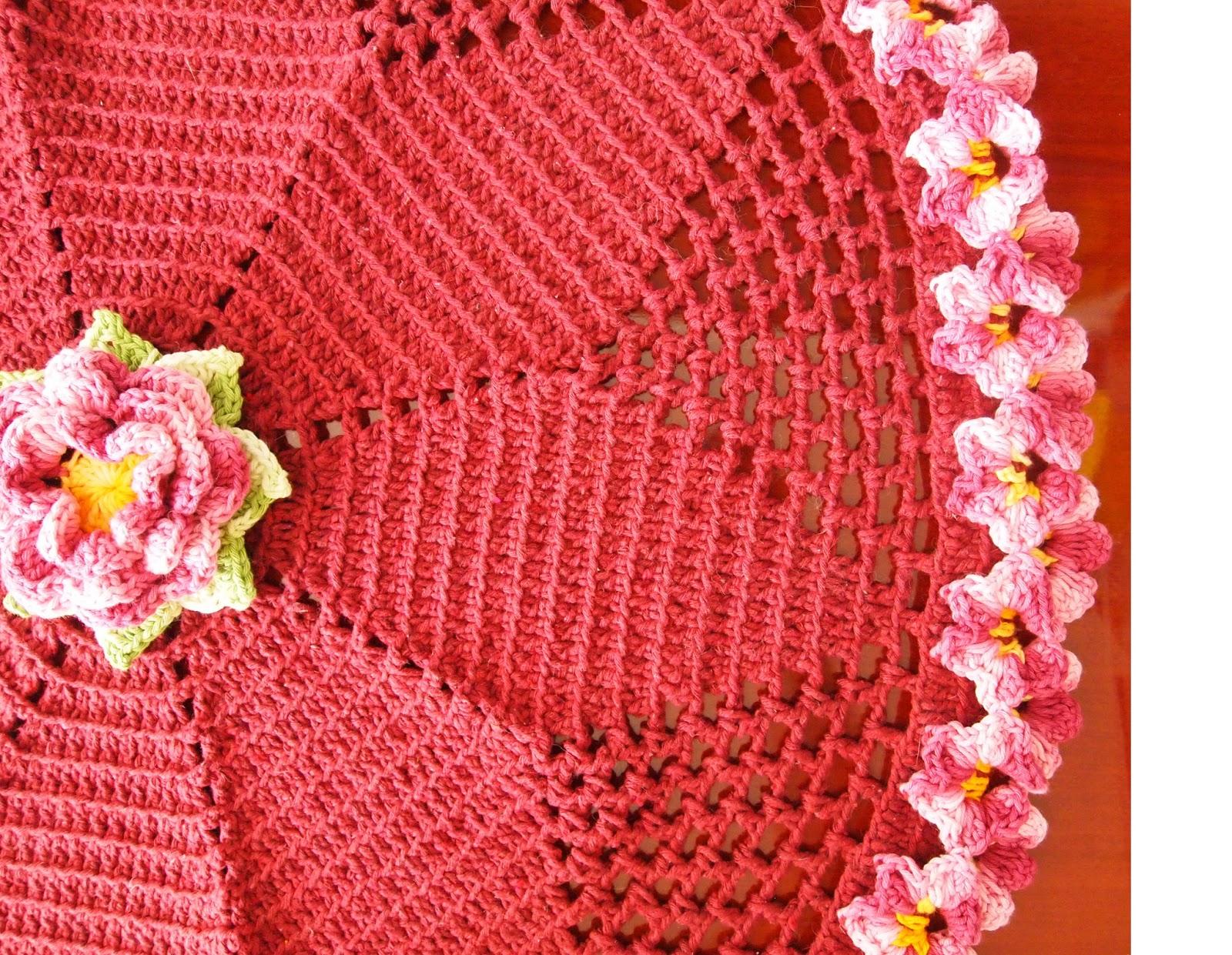 os croches da elsa tapete redondo amor perfeito