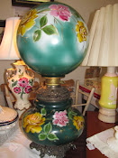 Beautiful Electric 1930s Gone With The Wind Style Lamp Hand Painted