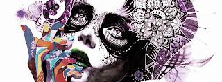 Capa para Facebook mulher psicodélica - Mineira sem Freio
