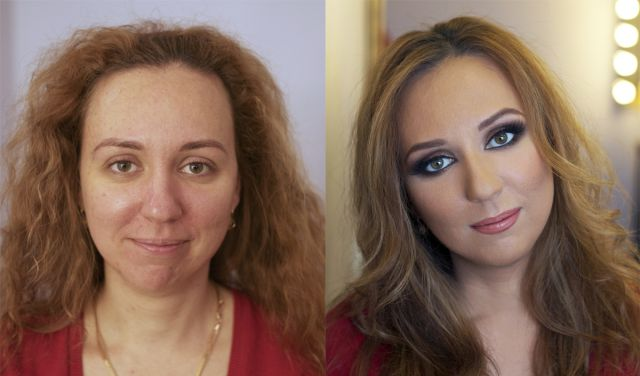 RNDM Select People Before And After Make-Up