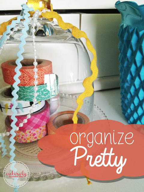 Ideas for pretty ways to organize.  I so need this! entirelyeventfulday.com