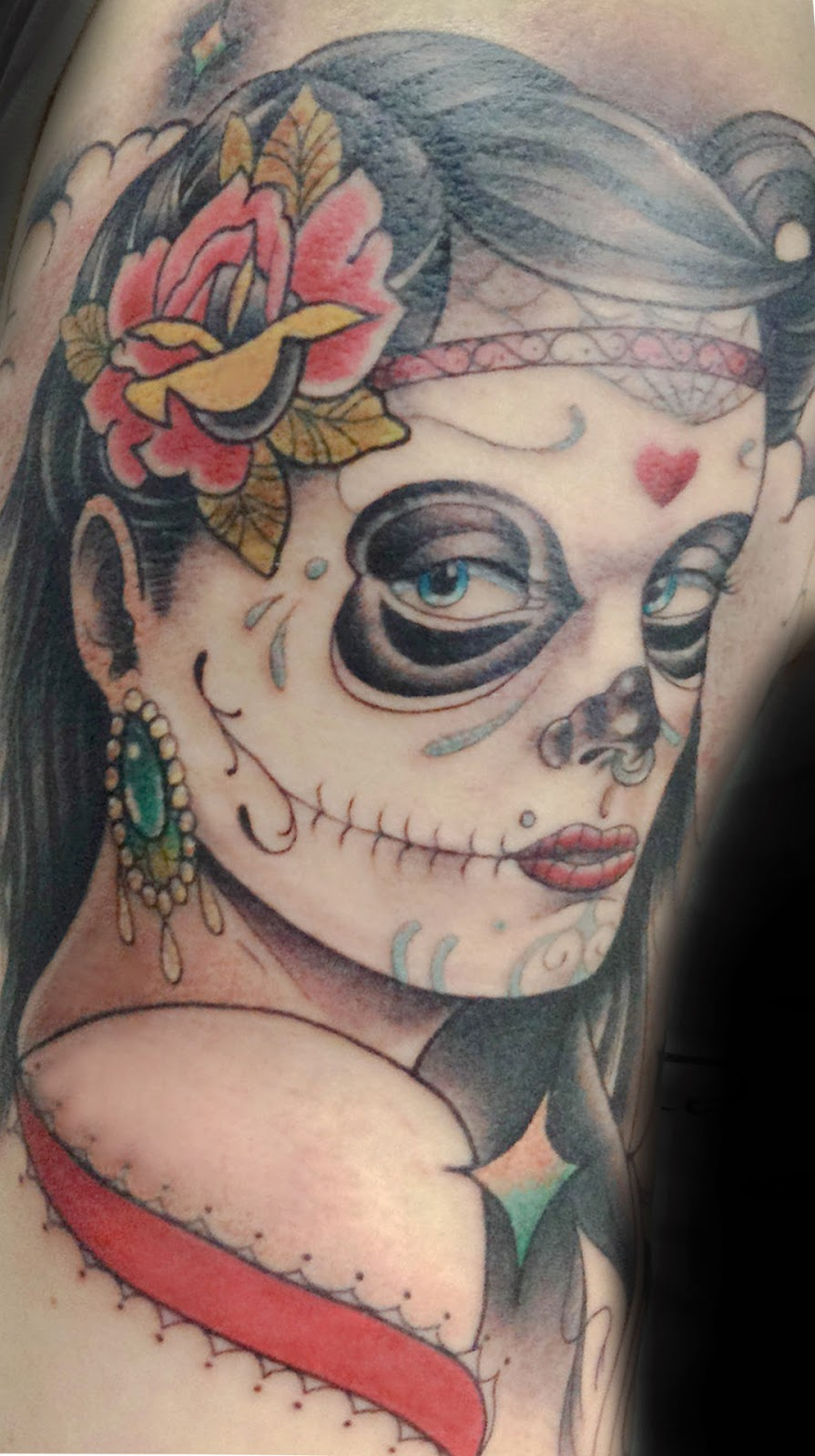 Awesome Catrina Tattoos Design