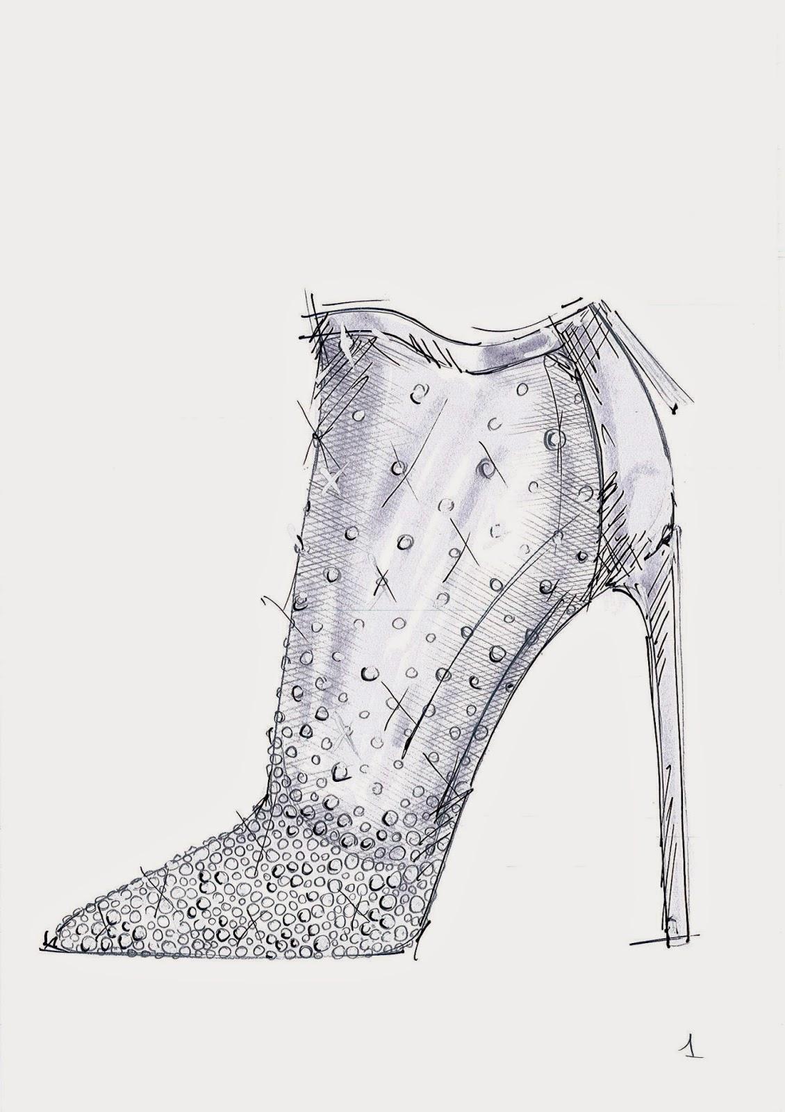 Stuart Weitzman Cinderella Glass Slipper Sketch