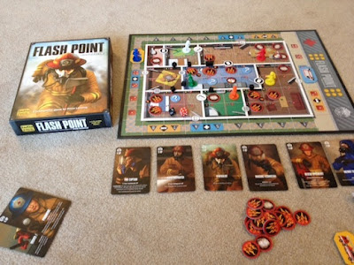 Flash Point Fire Rescue board game in play