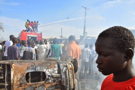 Photos: Scene of today's bomb blast in Maiduguri market4