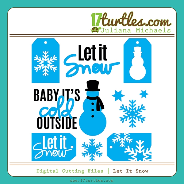 Let It Snow Free Digital Cut File by Juliana Michaels