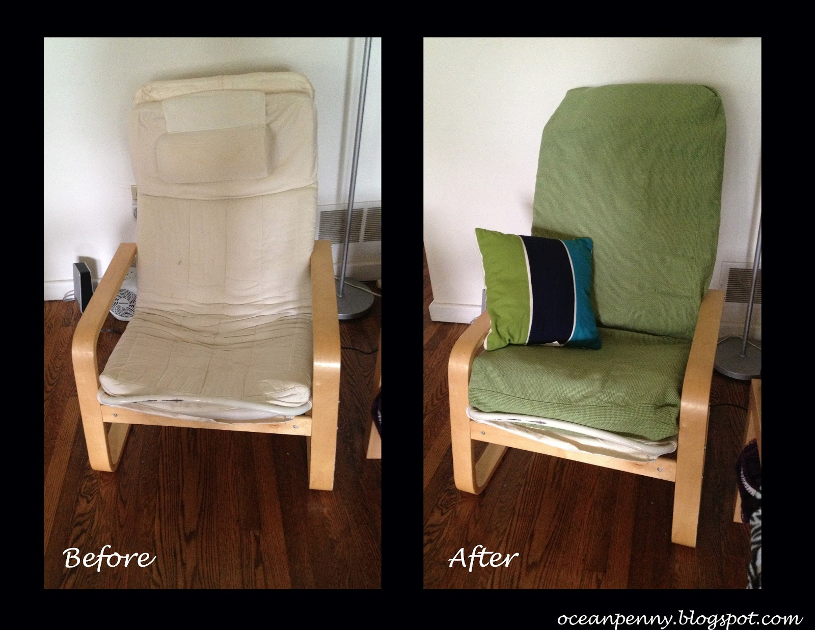 Diy Ikea Hack Poang Chair Cover Needle Amp Thread Magic
