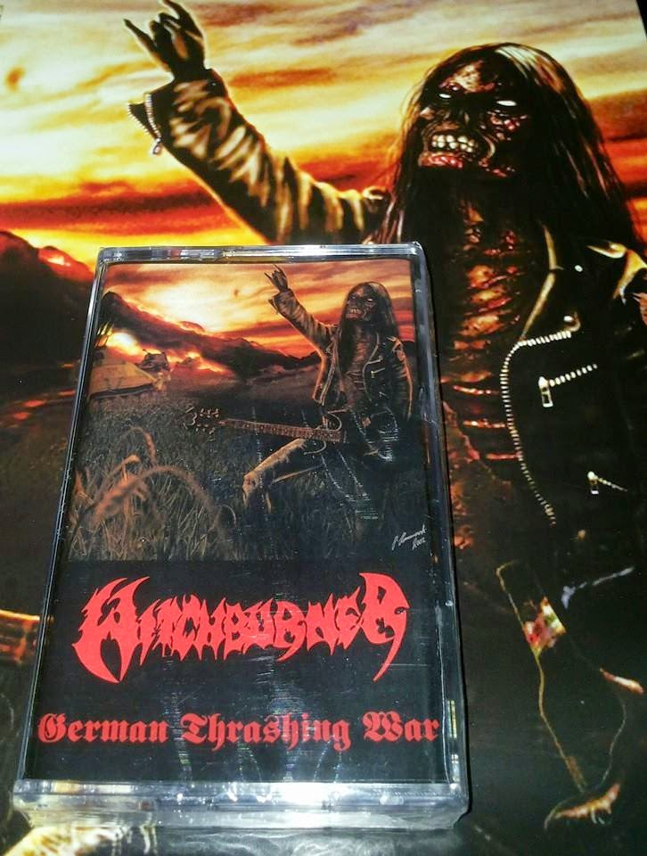 WITCHBURNER''german thrashing war''-proTAPE+poster&sticker!!