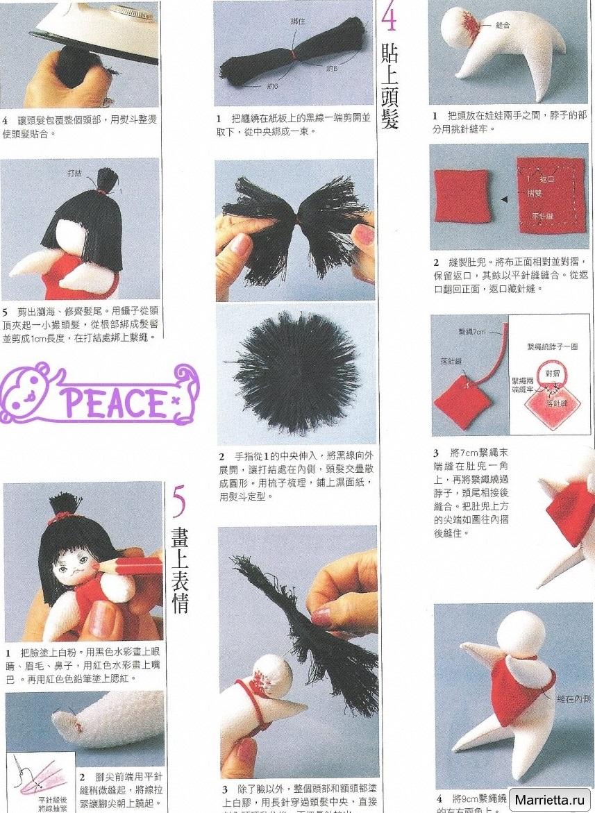 Шьем традиционную японскую куклу. Юный силач - Кинтаро