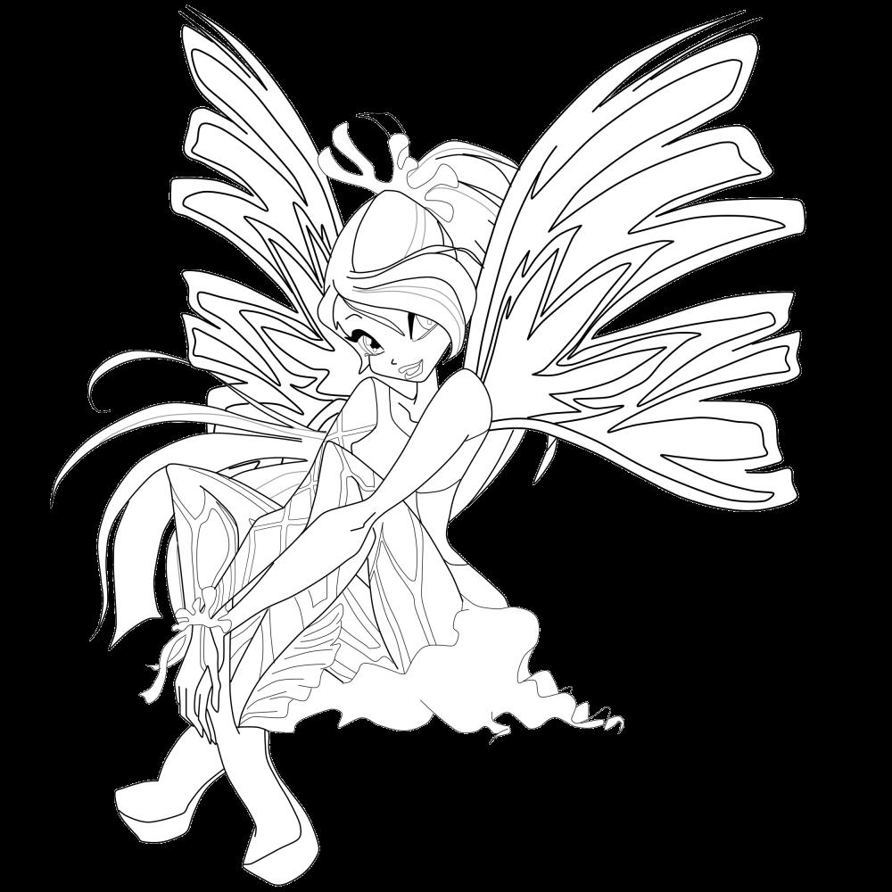 Odlotowe winx kolorowanki sirenix for Winx sirenix coloring pages